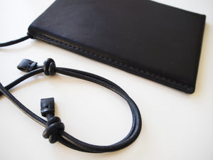 Phone Sling Bag - Smooth Leather / Black