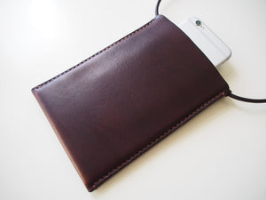 Phone Crossbody Bag - Smooth Leather / Brown