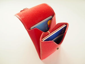 Origami Card Holder - Portrait / Red