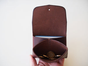 Origami Wallet - Smooth Leather / Brown