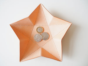 Origami Star Tray -  Set of Two / Natural