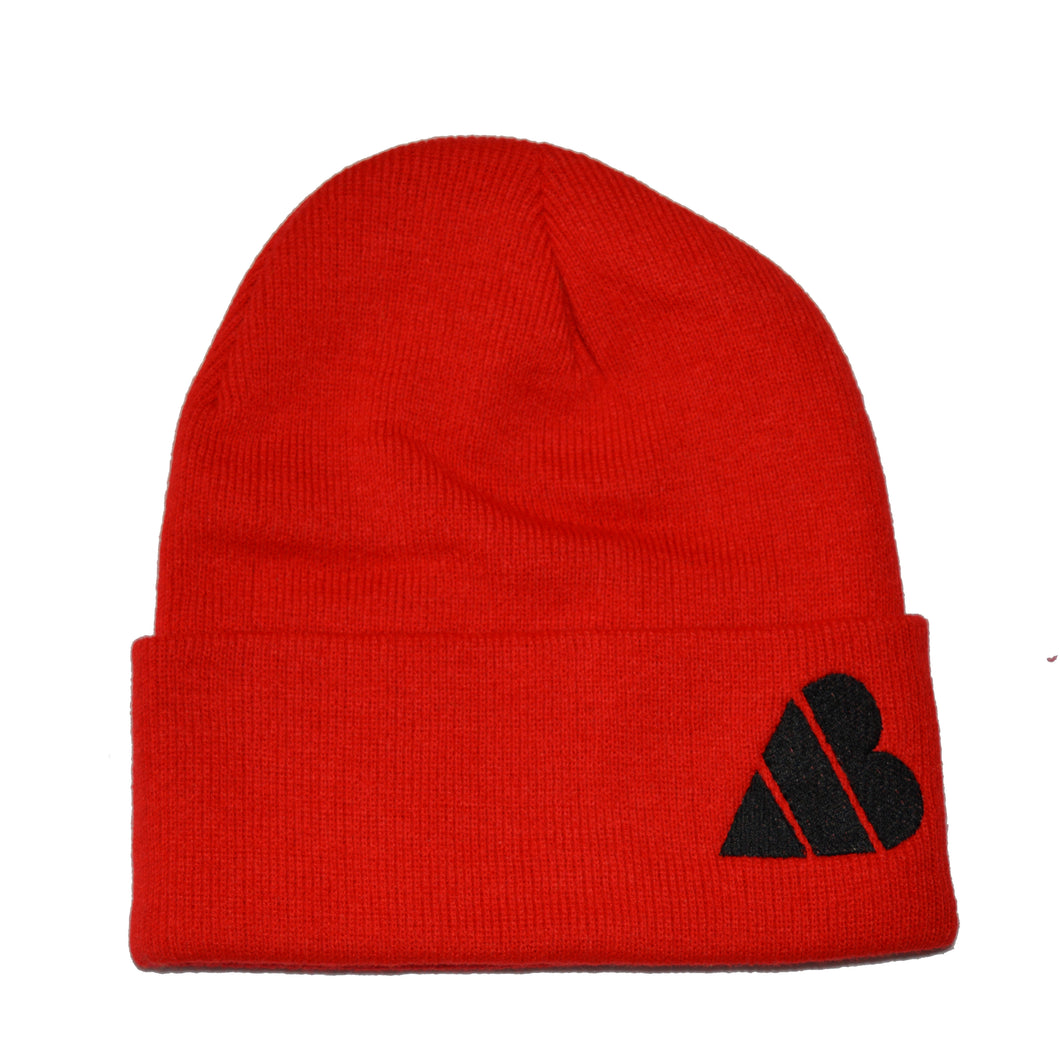 AB Heart Beanie - Red