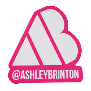 AB Heart Sticker - Pink/White