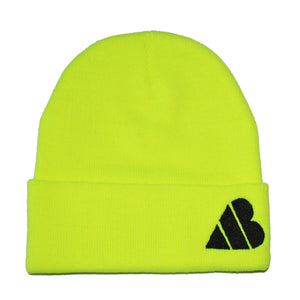 AB Heart Beanie - Yellow