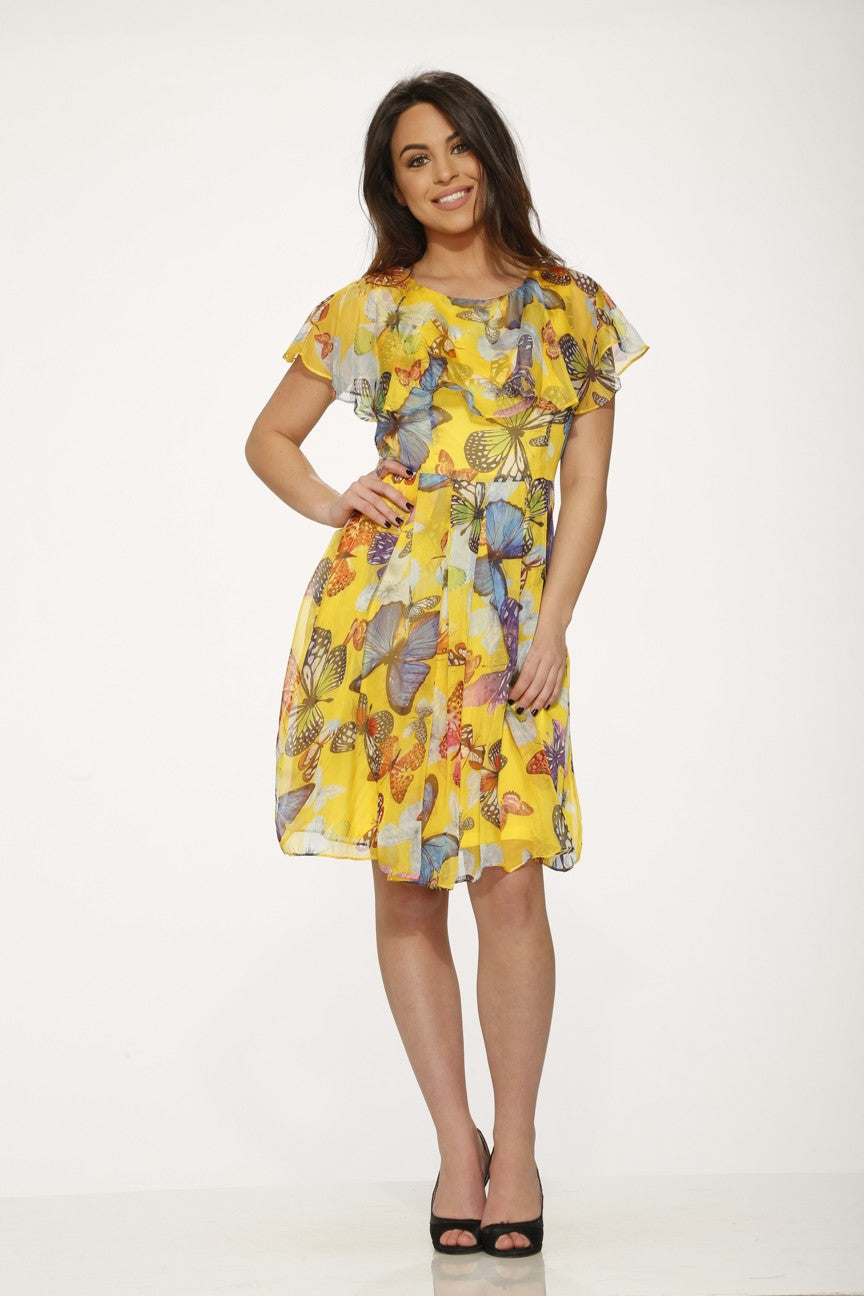 Y017625 Yellow Butterfly Dress ( Pre-Pack $ )