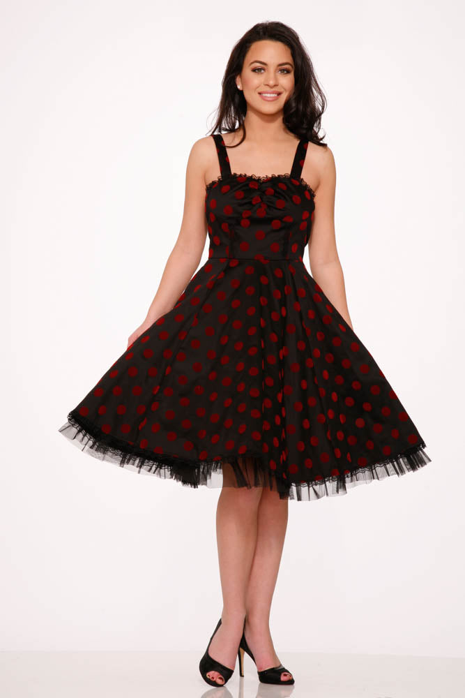 9978 Nikki Dress in Red Dots