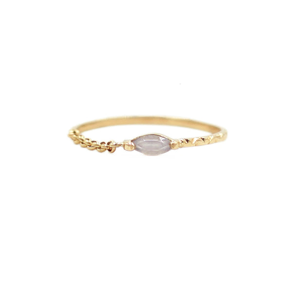 Half Chain Gold Ring
