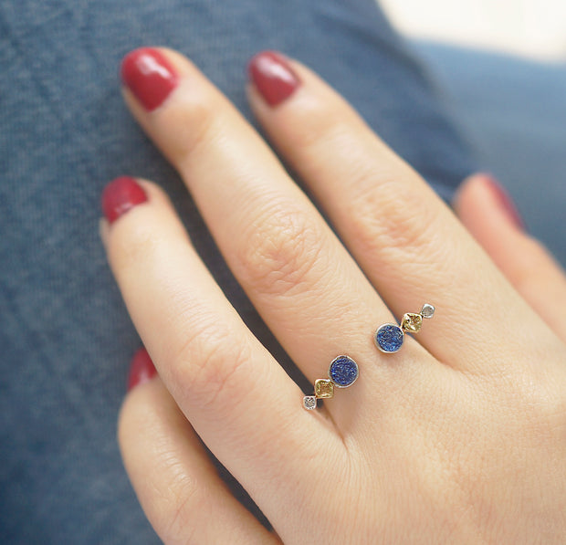 Moon Open Silver Ring (X)