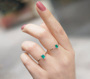 Emerald & Diamonds Gold Ring