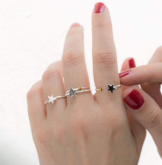 Stars Silver Rings