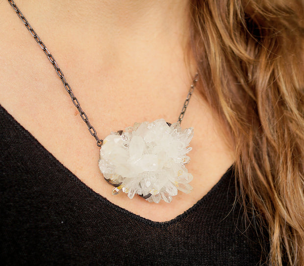 Quartz XL Silver Necklace