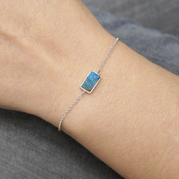 Rectangle Petit Silver Bracelet