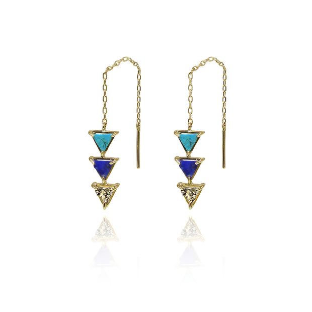 Triangle Gold Earrings