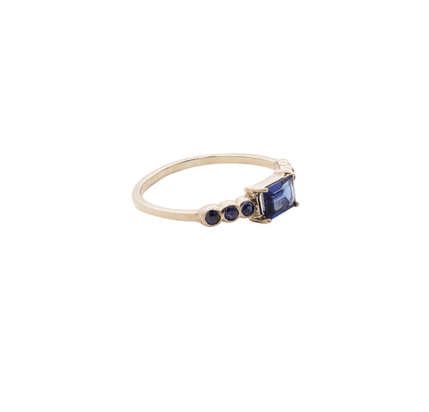 Dream Blue Gold Ring
