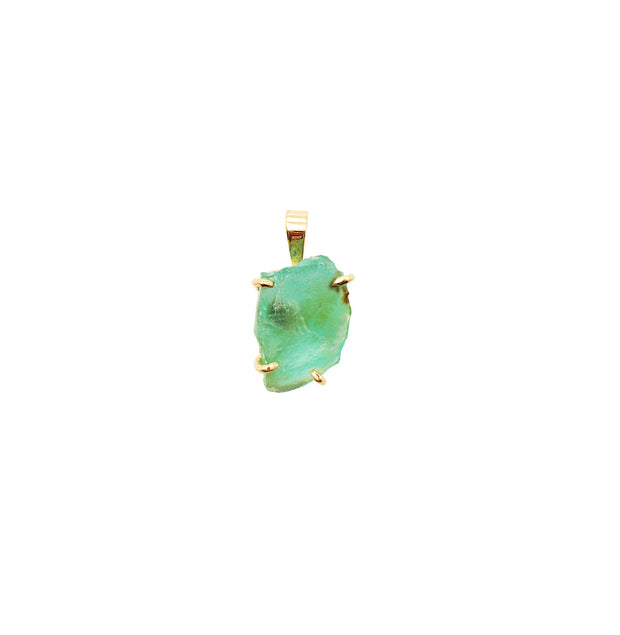 Raw Andean Opal Gold Pendant