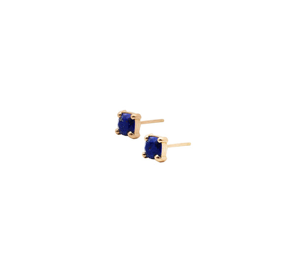 Cube Gold Earrings