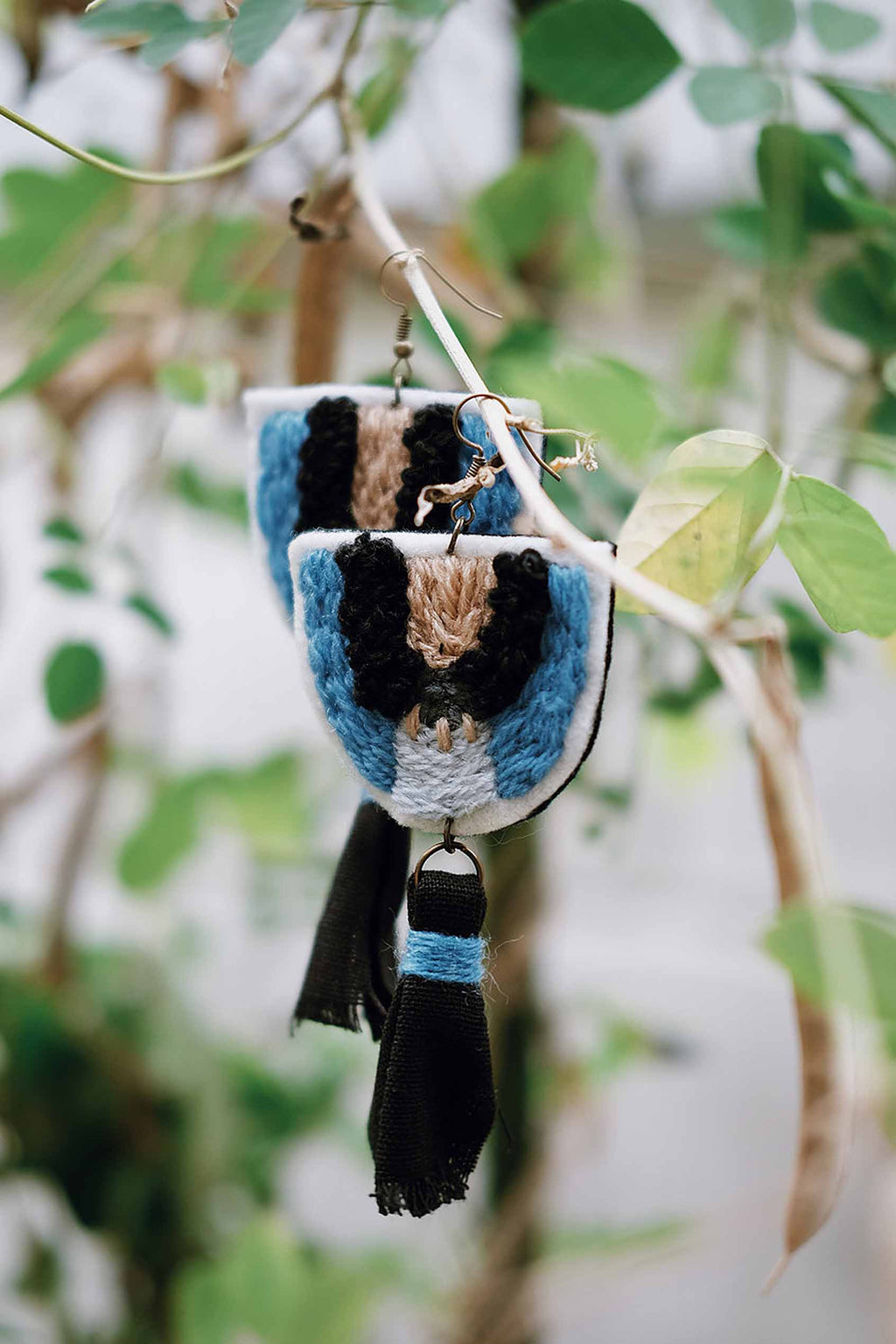 Blue Arch Earrings - Imaji Studio