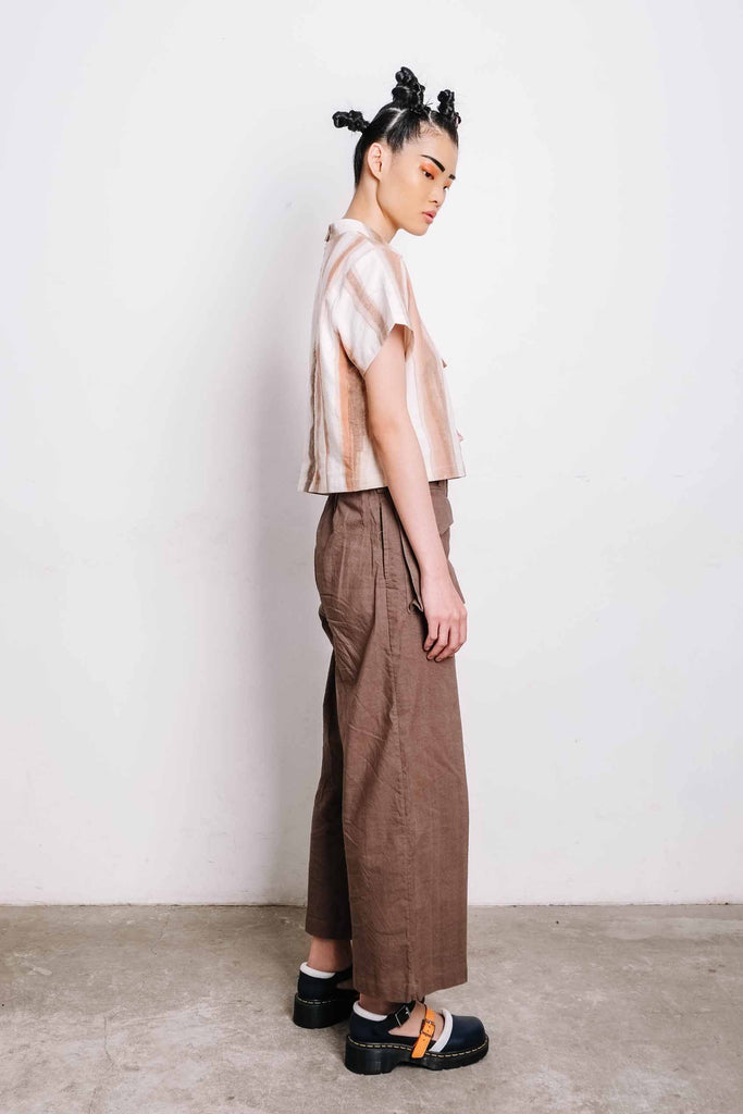 Cargo Pants Brown - Imaji Studio
