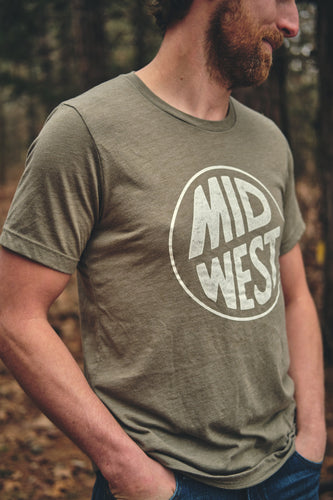 Midwest Olive Tee