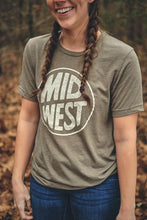 Load image into Gallery viewer, Midwest Olive Tee