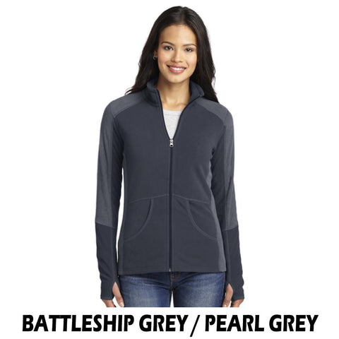 NLCC L230 Ladies Colorblock Microfleece Jacket