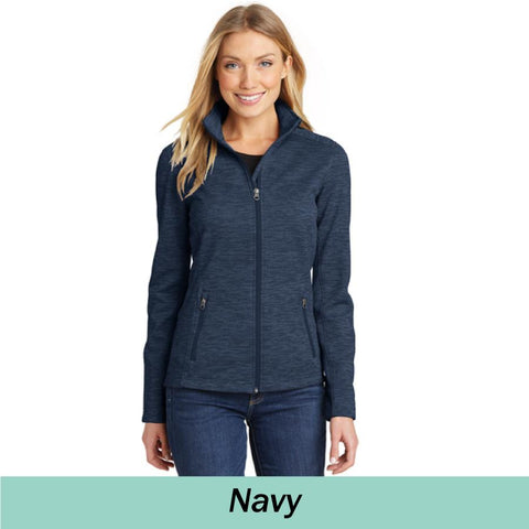 MMC L231 Ladies Port Authority DIGI Stripe Fleece Jacket
