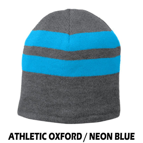 NLCC C922 Fleece Lined Striped Knit Cap