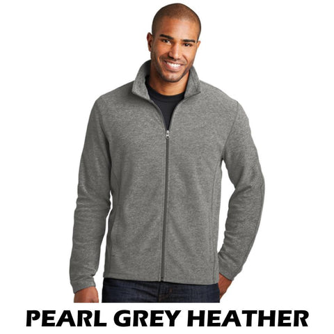 NLCC F235 Adult Heather Microfleece Full-Zip Jacket