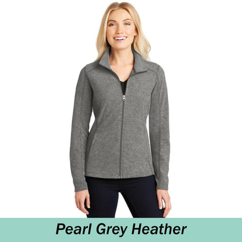 MMC Ladies Heather Microfleece Full-Zip Jacket L235