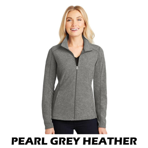 NLCC L235 Ladies Heather Microfleece Full-Zip Jacket