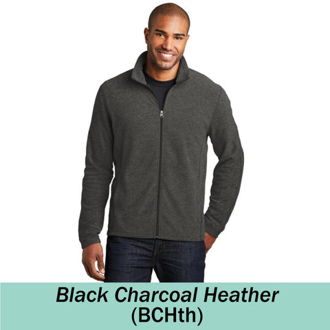 HAMH F235 Heather Microfleece Full Zip