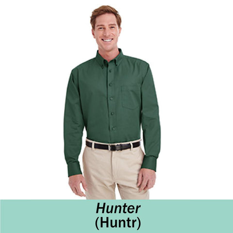 HAMH M581 Harriton Mens Foundation Long Sleeve Twill