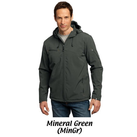 AMH Port Authority® Textured Hooded Soft Shell Jacket J706