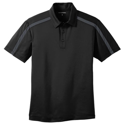 Key Choice Silk Touch™ Performance Colorblock Stripe Polo Men's