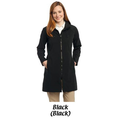 MMC Port Authority® Ladies Long Textured Hooded Soft Shell Jacket L306
