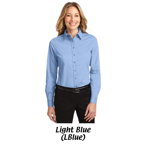 AMH Port Authority® Ladies Long Sleeve Easy Care Shirt L608 -- 3XL
