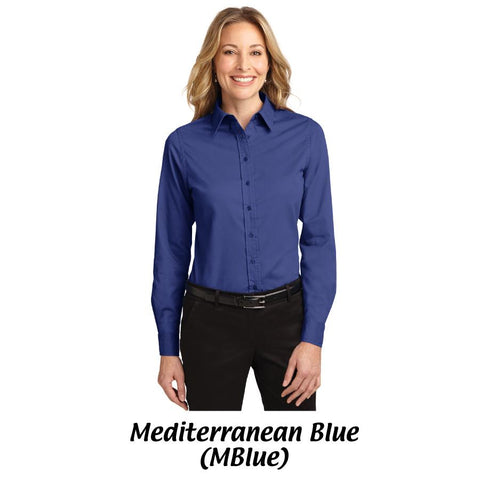 MMC Port Authority® Ladies Long Sleeve Easy Care Shirt L608 -- M