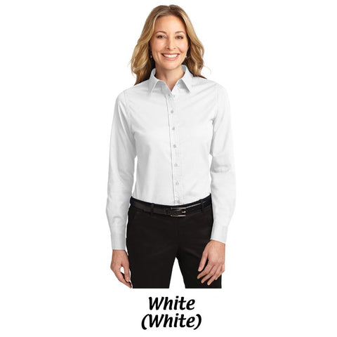 AMH Port Authority® Ladies Long Sleeve Easy Care Shirt L608 -- S