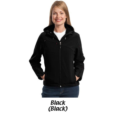 AMH Port Authority® Ladies Textured Hooded Soft Shell Jacket L706