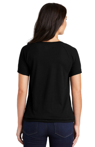 MMC New Era ® Ladies Tri-Blend Performance Cinch Tee LNEA133 (Black Solid)