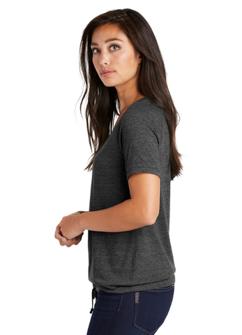 LNEA133  New Era ® Ladies Tri-Blend Performance Cinch Tee (Drk/Graphite)