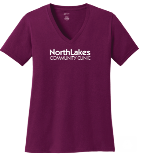 NLCC LPC54V Ladies Short Sleeve V-neck Printed T-shirt