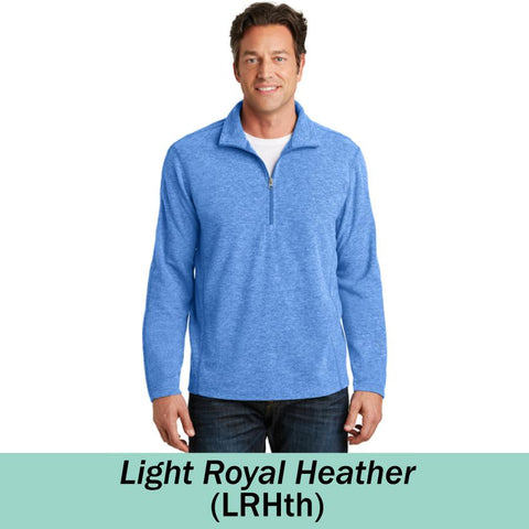 HAMH F234 Heather Microfleece 1/2 Zip Pullover