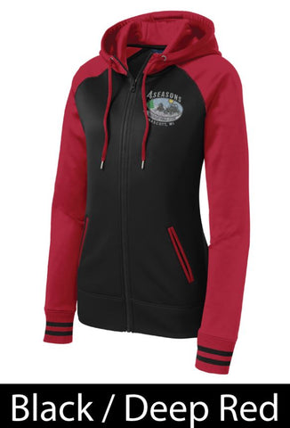 FSRC EMB LST236 Sport-Tek® Ladies Varsity Fleece Full-Zip Hooded Jacket