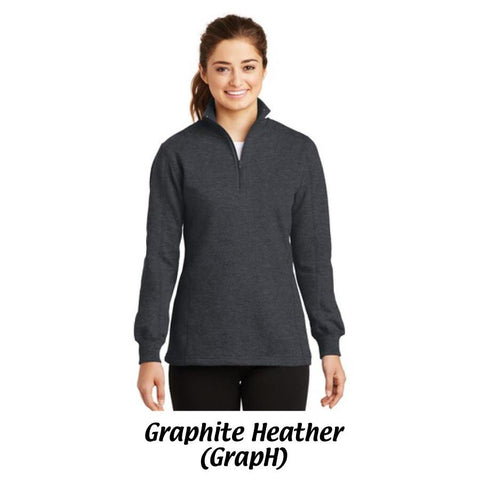 AMH Sport-Tek® Ladies 1/4-Zip Sweatshirt LST253.