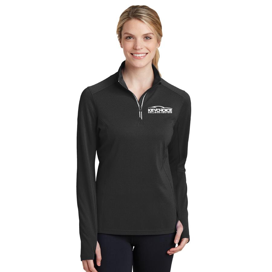 Key Choice Textured 1/4-Zip Pullover Women's