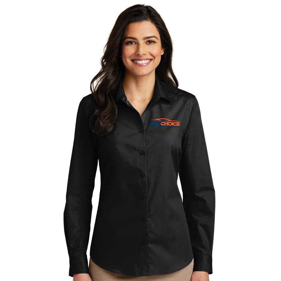 Key Choice Long Sleeve Carefree Poplin Shirt Women's