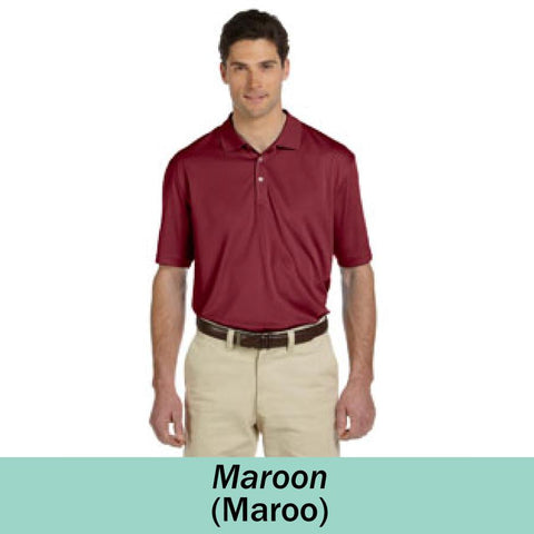 HAMH M353 Harriton Mens Double Mesh Polo
