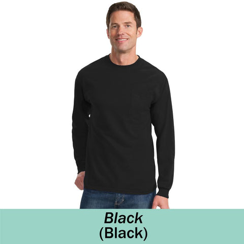MMC PC61LSPT - Adult Long Sleeve T-shirt with Pocket TALL SIZING