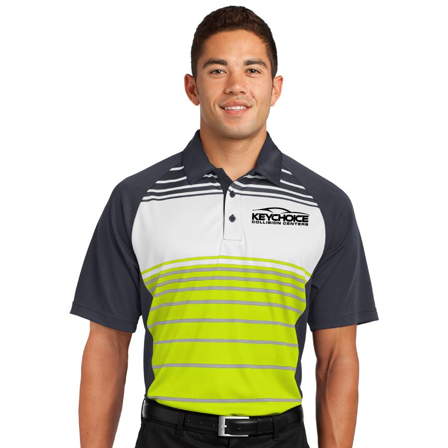 Key Choice Sublimated Stripe Polo Men's